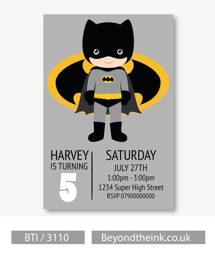 Best 25+ Batman Invitations Ideas On Pinterest