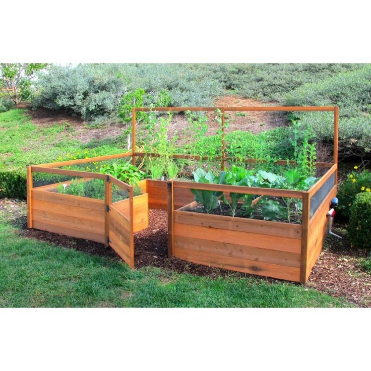 Design Ideas. Eco Friendly Raised Garden Beds Kits And Planters Cedar  Complete Redwood Kit Side
