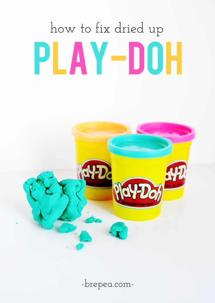 I never knew it was this easy to fix playdough, great parenting trick: How to fix dried up Play-doh