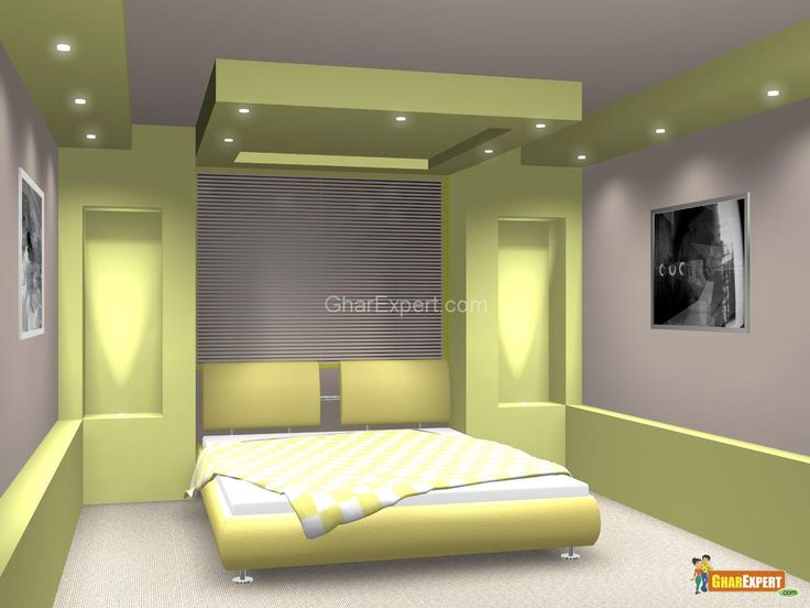 Green Pop Ceiling Colors With Lighting For Bedroom  Www Alluring Bedroom Down Ceiling Designs Design Inspiration