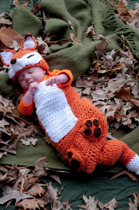 Hey, I found this really awesome Etsy listing at https://www.etsy.com/listing/201292386/fox-crochet-baby-outfit-and-hat-0-3