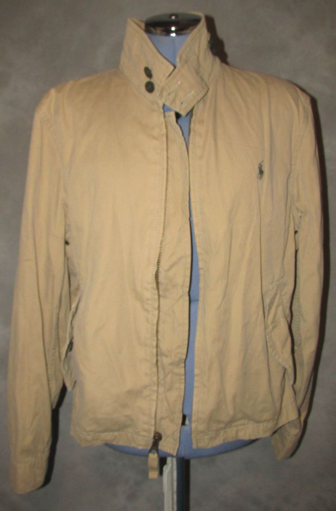 Polo,Ralph Lauren,chest,size 44ins,Mens,sand,no pattern,Casual,Hip Length,Jacket