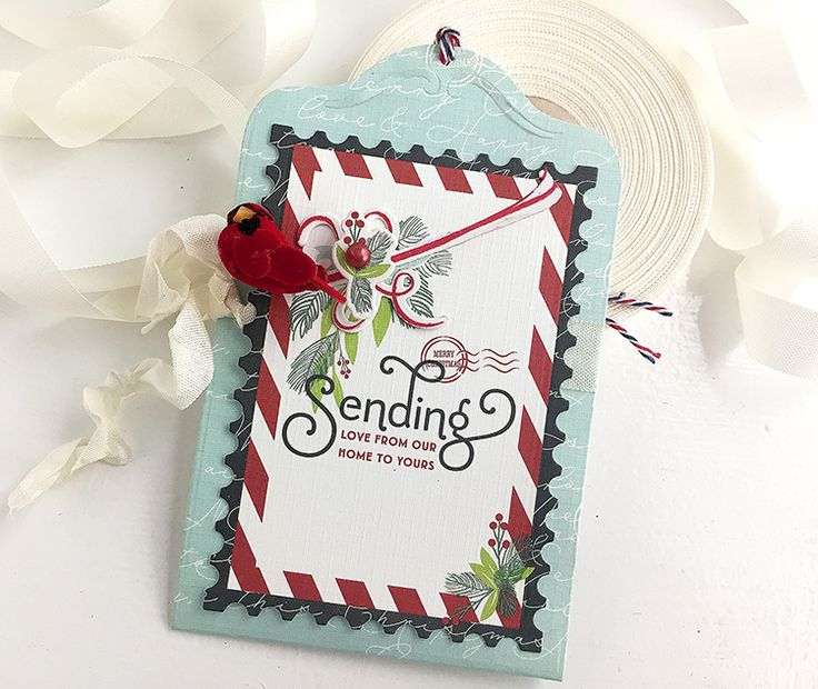 Sending Love Tag by Danielle Flanders for Papertrey Ink (October 2016)
