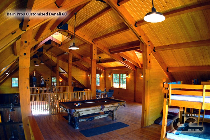 Upstairs Living Space In A Customized Barn Pros Denali