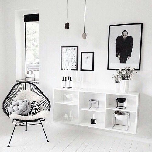 Best 25 black white decor ideas on pinterest black for Deco salon noir et blanc