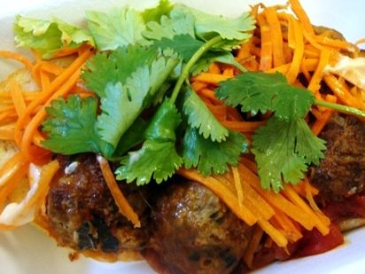Asian meatballs, Lettuce wraps and Bariatric eating on Pinterest