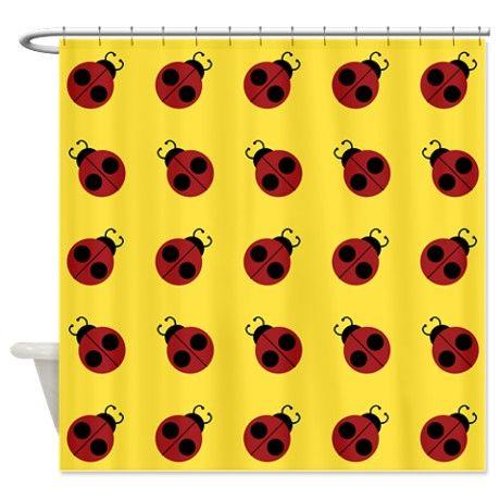 Ladybug Bath Accessory Bathroom Accessories Décor Cute Red