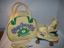 Cabbage Patch Kids~1984~Adult Roller Skates and Yellow Vinyl Bag - birthday :)
