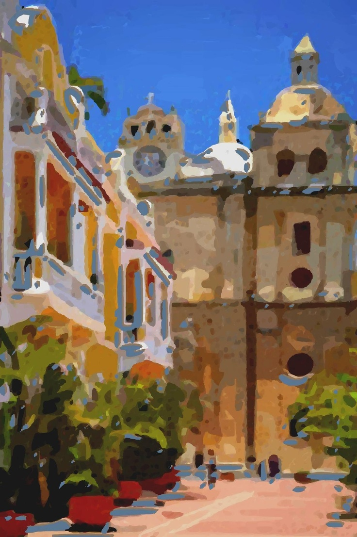 Art painting, Cartagena.  #Colombia