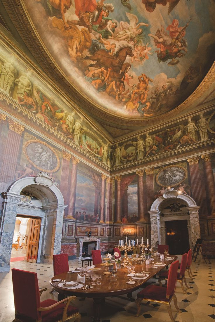 **The artwork in this room in incredible!! ** The Saloon at #BlenheimPalace is the State Dining Room and is used by the #Marlborough family for #Christmas dinner every year. Discover more at www.blenheimpalace.com