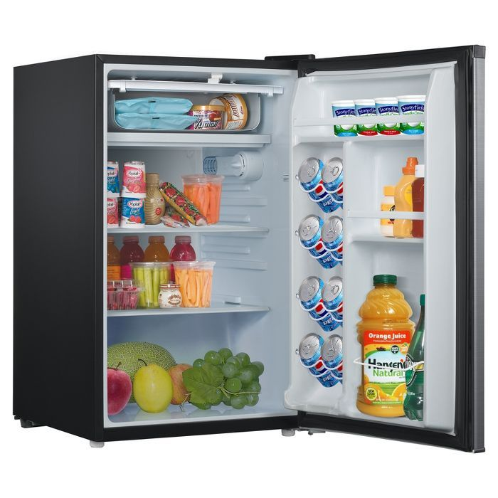 Whirlpool 4 3 Cu Ft Mini Refrigerator Stainless Steel Bc 127b In