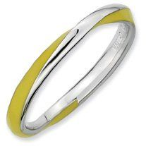 Sunshine Silver Twisted Yellow Enamel Stackable Ring. Sizes 5-10 Available Jewelry Pot. $20.99. All Genuine Diamonds, Gemstones, Materials, and Precious Metals. 30 Day Money Back Guarantee. Fabulous Promotions and Discounts!. Your item will be shipped the same or next weekday!. 100% Satisfaction Guarantee. Questions? Call 866-923-4446. Save 67% Off!