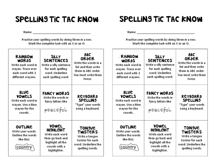26 best SCHOOL - Tic-Tac-Toe Boards images on Pinterest Spelling - sample tic tac toe template