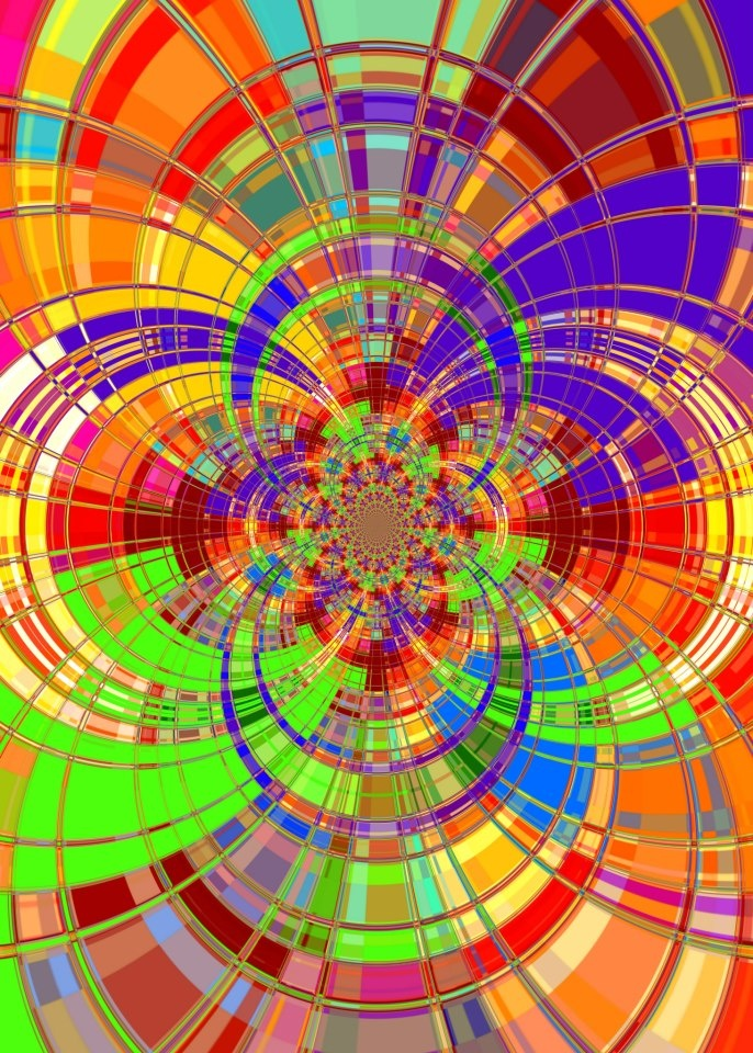 Explosion of color, symmetry and pattern