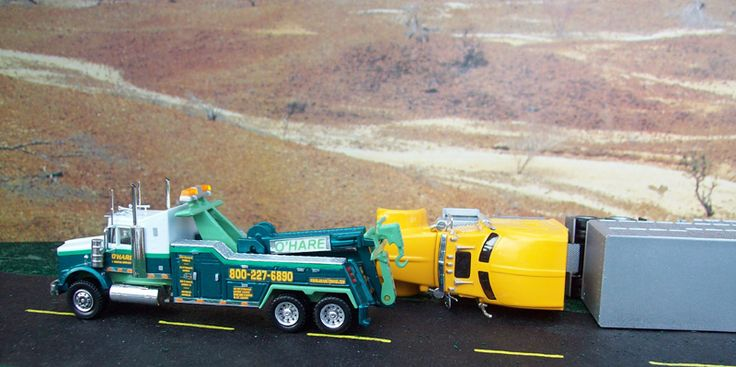o'hare tow trucks and wreckers | Hare Towing Kenworth T800 Recovery Scene - By Doug Musey ...