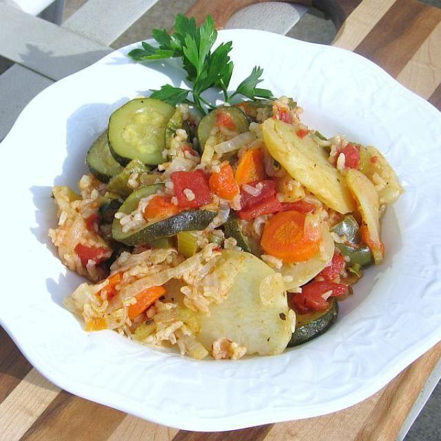 Eastern European Casserole Recipes: Serbian Vegetable Casserole Recipe - Djuvece