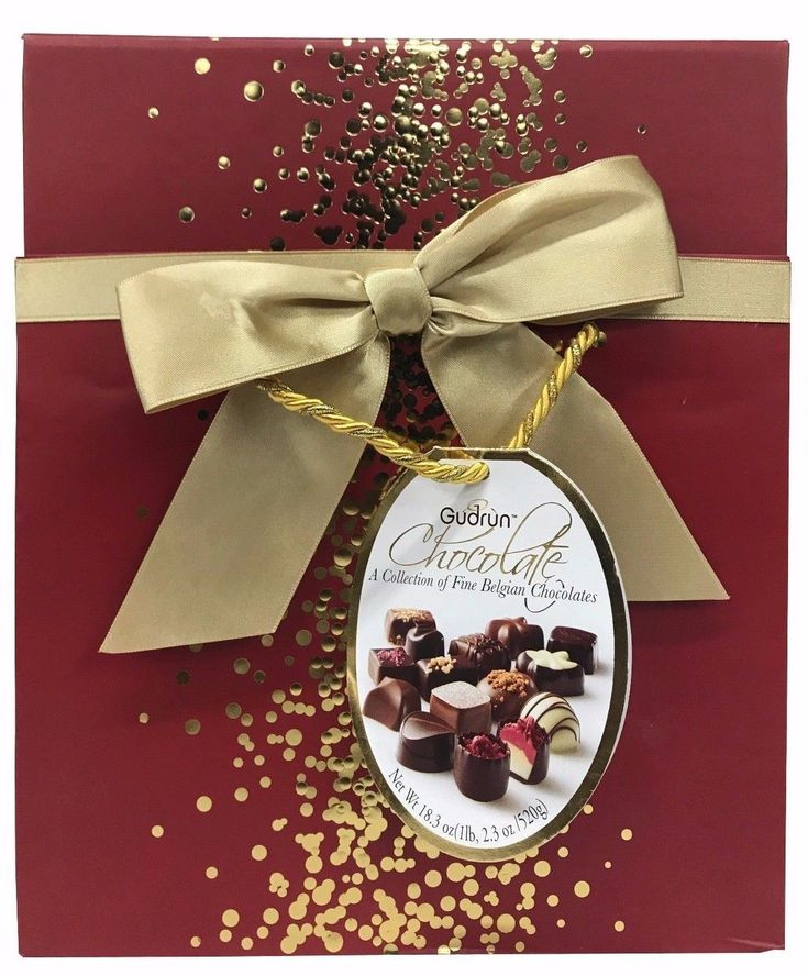 Gudrun Chocolate a Collection of Fine Belgian Chocolates 18.3 OZ - Red