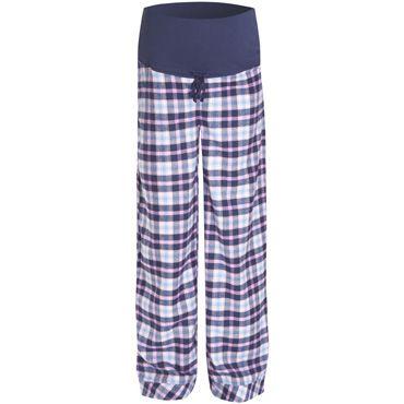 Navy Check Maternity Pyjama Bottoms, Pyjamas and Nightwear, Maternity