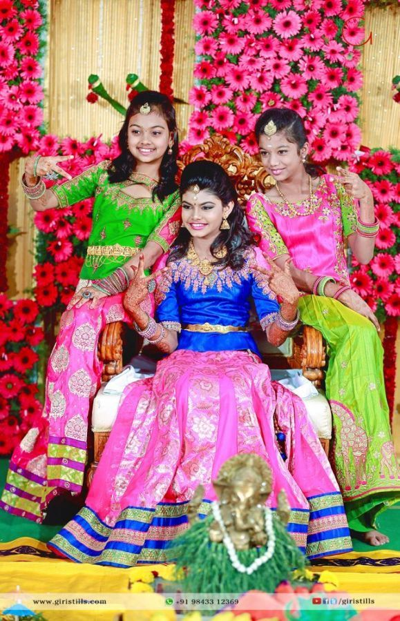 8 Best Puberty Ceremony Photography Harnitha Images On Pinterest