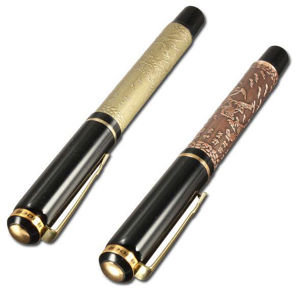 EIGHT HORSES Silver And Golden High-Grade Fountain Pen