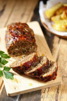 Un dejeuner de soleil: Pain de viande à l'italienne (polpettone)                                                                                                                                                                                 Plus