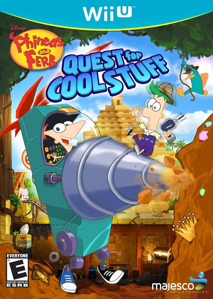 Phineas and Ferb Quest for Cool Stuff Wii U Game Phineas