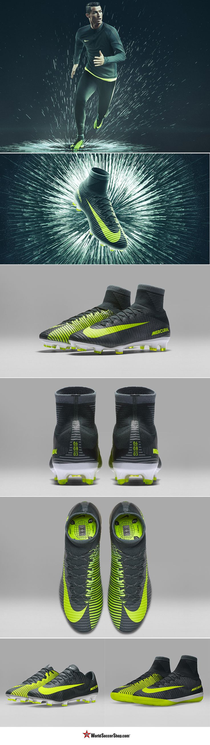 THE ALL NEW Nike Mercurial Superfly V CR7 SG - The next story in the life of Cristiano Ronaldo. Based on the moment he was discovered by Manchester United. Speed has been redesigned, redeveloped, and reemerged. Available now at WorldSoccerShop.com #Nike #Ronaldo #Soccer