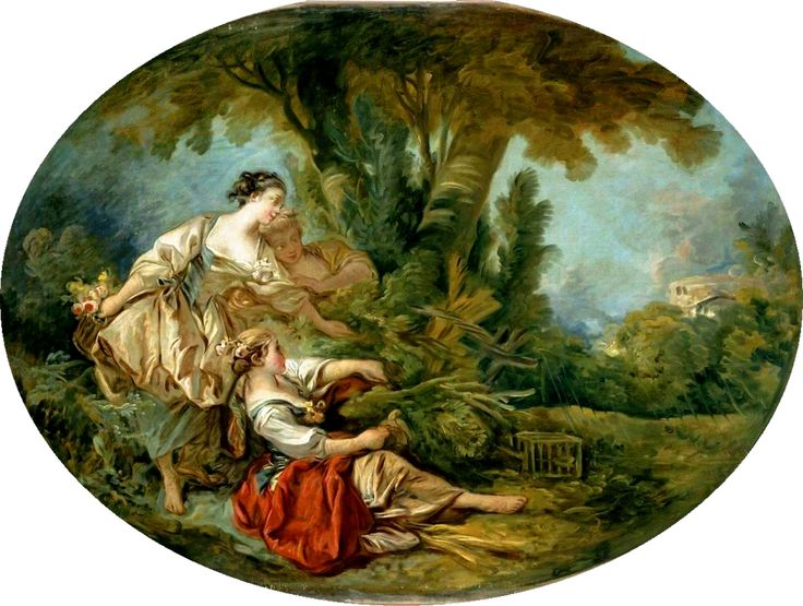L'Appeau (also known as L'Oiseau pris dans les filets) - François Boucher - circa 1760-1770
