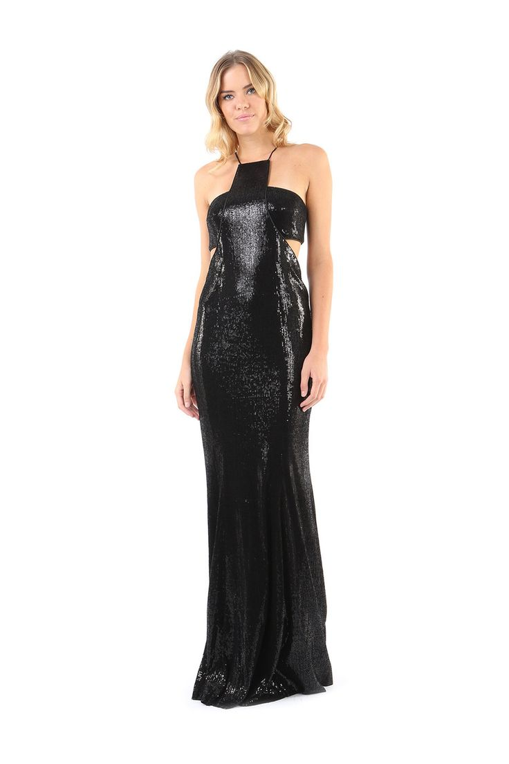 ACCRA SEQUIN GOWN WITH SIDE CUT OUTS from Jay Godfrey