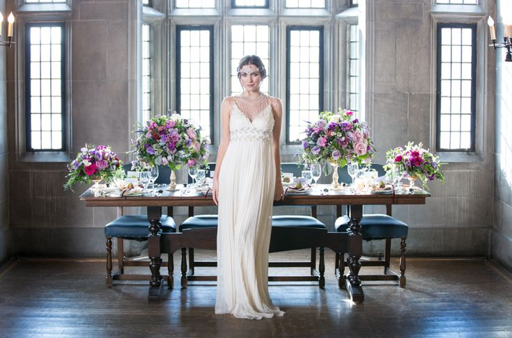 Hart House style shoot, model wearing stunning gown from Sash & Bustle, Toronto