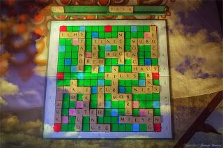Gabriele Manholds Blog: Kurzgeschichte mit Scrabble Wörtern #DigitalArt
