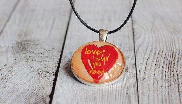 Wisiorek Love, Serce, Nowoczesny, dla zakochanych