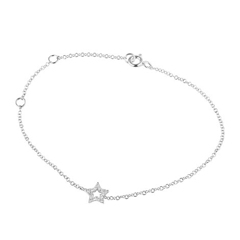 Jan Logan 18ct diamond mini Star bracelet