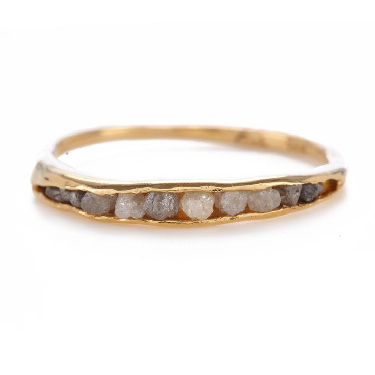 Yoko Matsumura Smiley Ring; rough diamonds (Oncewed, abiti usati e idee…