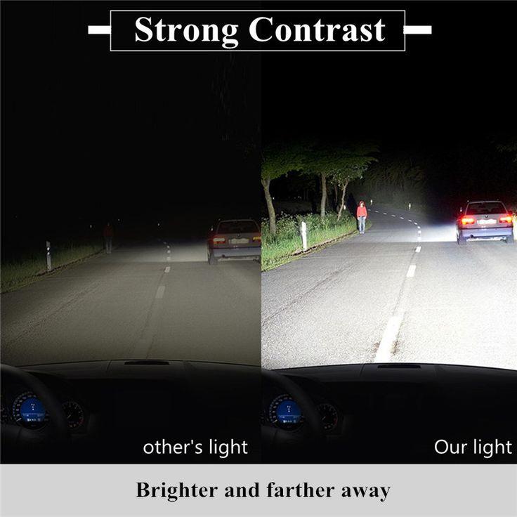 Pair COB LED Car Headlight Kit 6000K H4 H7 H11 H13 9005 9007 60W 7200LM