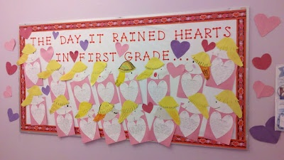 The Day it Rained Hearts writing craftivity (with downloadable pattern)
