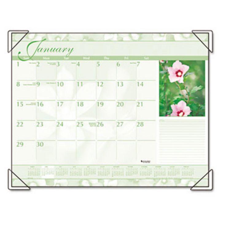 At-A-GLANCE Antique Floral Monthly Desk Pad Calendar, 22 x 17, Antique Floral, 2017 - AAGDMD13532