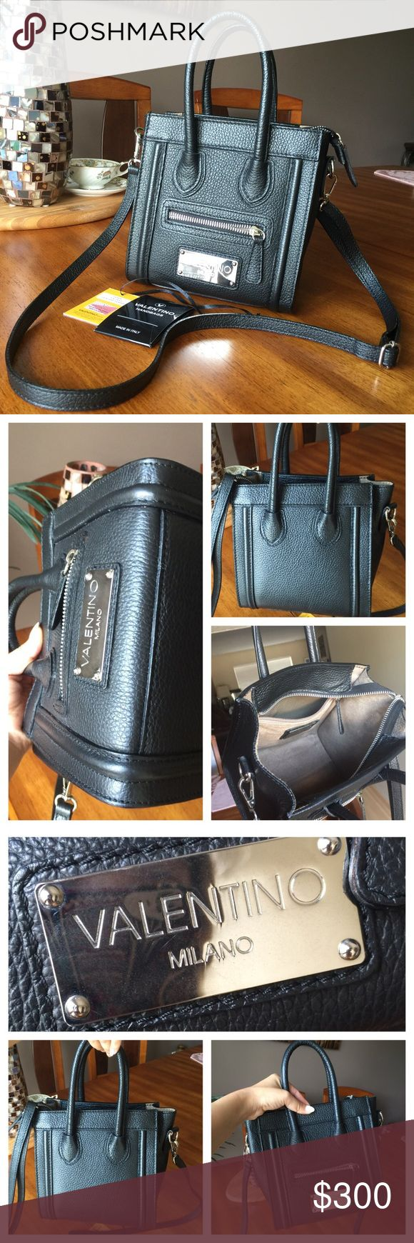 Valentino Crossbody Bag Authentic Valentino Genuine Leather. Used few times, in great condition. 7.5W x 5D x 7.5H . Valentino Bags Crossbody Bags