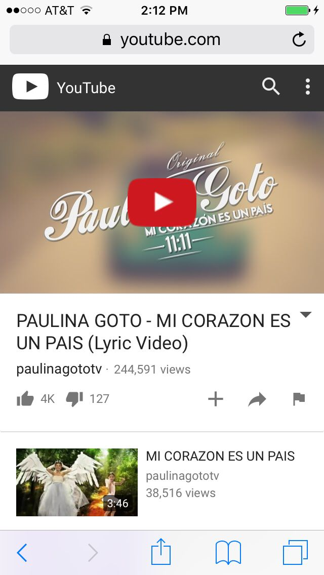 This Song is by Paulina Goto,and I Looove it!!!