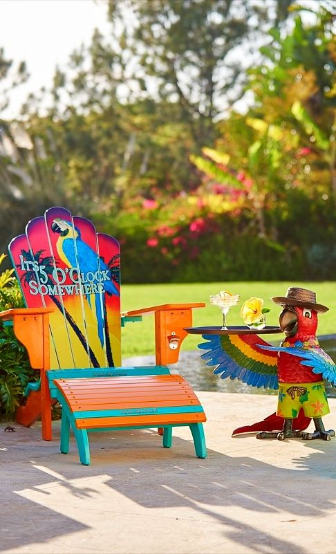 Marvelous Our Margaritaville Adirondack Chair Features Everything You Love About  Classic Adirondack Furniture But With A Tropical