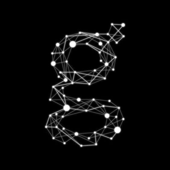 Logo Unire, Lettering Typography, Punti Lettering, Constellation Logo Design, Punti Font, Geometric Logos, Punti Graphic