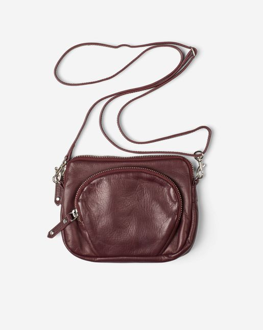 Mini Leather Bag Burgundy