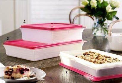 Tupperware Pink Slice n Stor Tupperware pink Savoury keeper Tupperware Pink Sweet Keeper