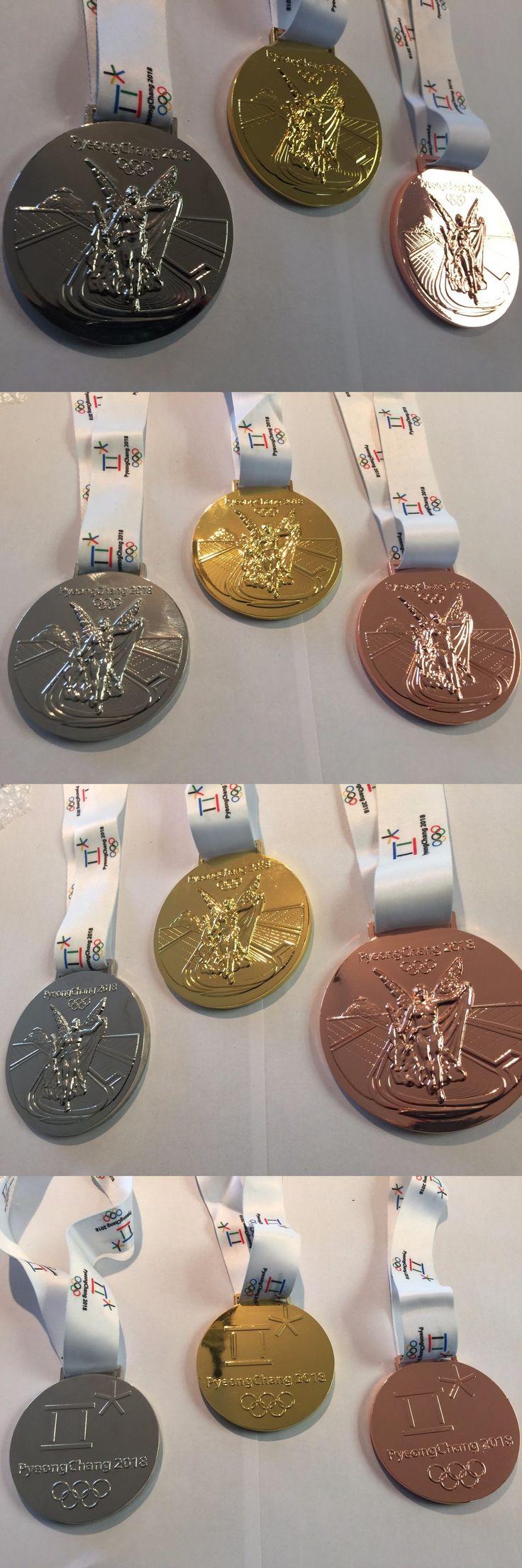 Olympics 27291: Set(3) 2018 Pyeongchang Olympic Souvenir Medals Gold Silver Bronze Korea! Usa! -> BUY IT NOW ONLY: $99.99 on eBay!