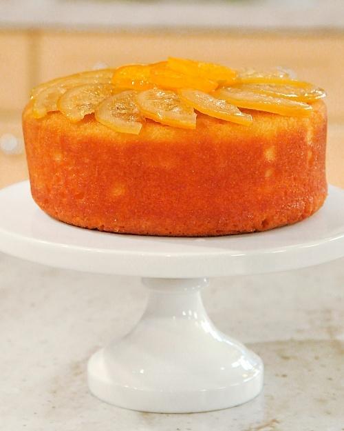 Sour Lemon Cake - with a brandy citrus glaze