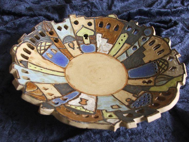 Keramik-Schale+Orient+groß+(blauton)+von+Keramik-Werkelkeller+auf+DaWanda.com