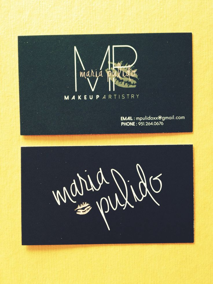 Business Card Design- Makeup Artistry