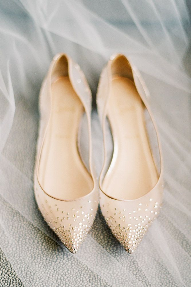 18 Flat Wedding Shoes For The Love Of Comfort And Style ❤ See more: http://www.weddingforward.com/flat-wedding-shoes/ #weddings #shoes
