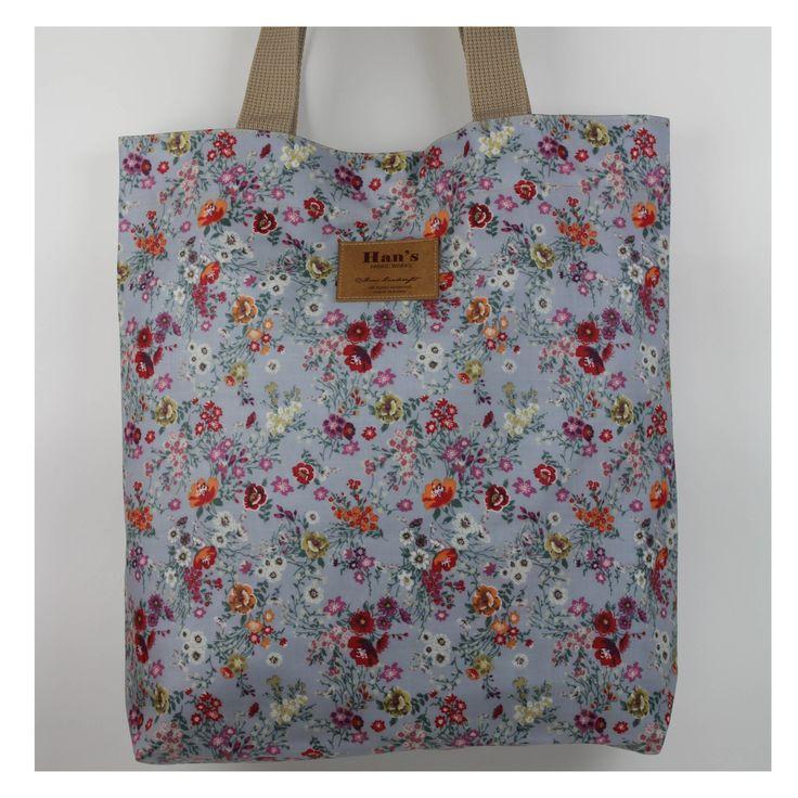 shoulder bag, coated linen fabric,korean made