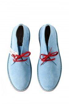 WALLY WALKER Scarpa azzurra con suola rossa per uomo primavera estate 2014